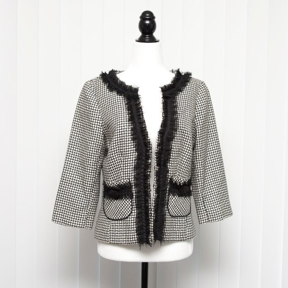 White House Black Market Checkered Blazer